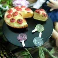 TPS034LLP 1/6 Bjd Miniature Mini Resin Candy Lollipop (3 Color)