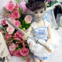 1/6 Bjd Knife Weapon Miniature Mini Metal Sword Silver TPS042SLR