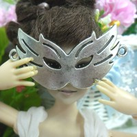 1/6 Bjd Doll Mini Metal Costume Eye Mask Cat Silver TPS045SLR