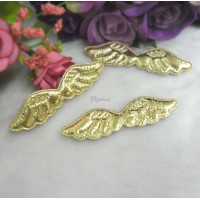 TPS067GLD DIY Crafts 58mm Mini Fabric Angel Wings Gold (3pcs)