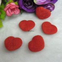 TPS072RED DIY Material 27mm Mini Fabric Heart Red (5pcs)