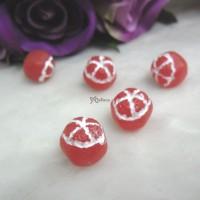 1/6 Bjd Doll Food Miniature Mini Red Grapefruit (5pcs) TPS082