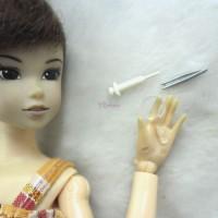 TPS084 1/6 Medicine Tools - Mini Tweezers+Magnifier+Syringe