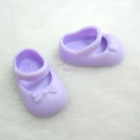 TPS085 Middie Blythe Obitsu 11cm Doll Mary Jane Shoes Purple