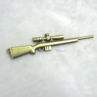 1/6 Bjd Doll Weapon Mini Alloy Long Gun Rifle Brass TPS089GLD