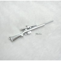 1/6 Bjd Doll Weapon Mini Alloy Long Gun Rifle Silver TPS089SLR