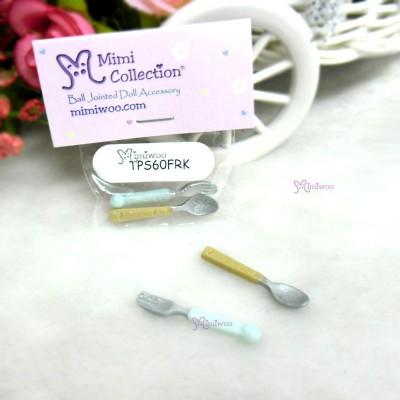 Blythe Momoko 1/6 Bjd Doll Miniature Mini Fork & Spoon TPS60FRK