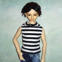 TSD148 Super Dollfie SD13 Luts Boy Outfit - Tank Top Black