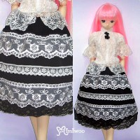 TSD155 bjd SD SD13 Luts DOT Doll outfit Girl Flower Lace Skirt Blk