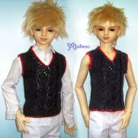TSD224BLK Super Dollfie SD SD13 Luts Boy Knit Vest Top Black Red
