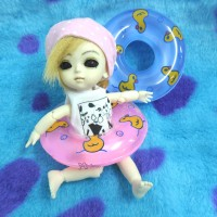 TSF019PNK 1/6 Bjd Yo-SD Blythe Miniature Mini Swim Ring Pink