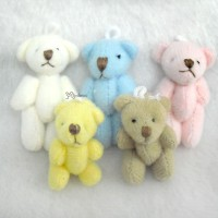 WAB001SET Momoko Blythe 4cm Mini Plush Teddy Bear (5psc Set)