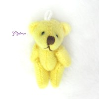 WAB001YEW 1/6 bjd 4cm Mini Plush Teddy Bear Yellow