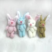 WAB003FT Momoko Blythe 4cm Mini Plush Bunny Rabbit (4pcs Set)