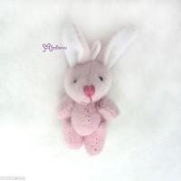 WAB003PNK 1/6 Momoko Blythe 4cm Mini Plush Bunny Rabbit Pink