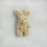 WAB010BRN 1/6 Momoko Blythe 6cm Mini Plush Bunny Rabbit Brown