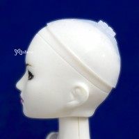 "WCM001 3.5-4"" Silicon Wig Cap for Doll Head Protection Cover"