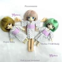 WHB002WHE Hujoo Baby Obitsu 11cm Doll Picco Neemo Yukata White