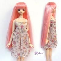 "WM27-02-PK 3.5-4"" Long Straight Bang Heat Resistant Wig Pink"