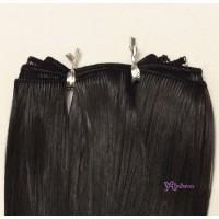 WSH-02-BLK Heat Resistant SARAN Re-Root Hair Weft Black