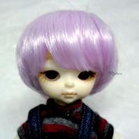 "Hujoo Baby Bjd Heat Resistant 4-5"" Shaggy Wig Purple WM21-07-VL"