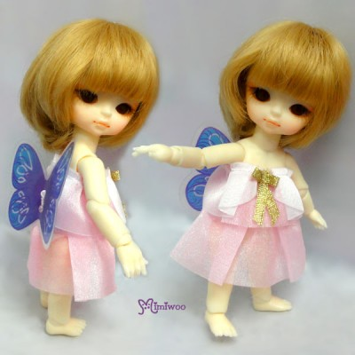 XB005PBL Hujoo Baby Suve Is Ted Outfit Top + Butterfly Dress