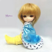 XB006BLE Hujoo Baby Doll Suve Is Ted Outfit Shiny Cape Blue