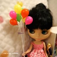 YC0043RUD 1/6 Bjd Momoko Blythe Mini Balloon Round 8pcs