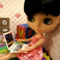 YC0048WHE Blythe Momoko Pullip Miniature Mini NoteBook Computer