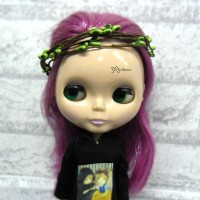 YC0053GRN Blythe Hujoo SD Bjd Mini Headdress Flower Ring Green