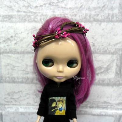 YC0053RSE Bjd Mini Headdress Flower Ring Rose