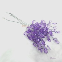 YC0054PUE Doll Decoration Diamond-Look Plastic Tree Purple