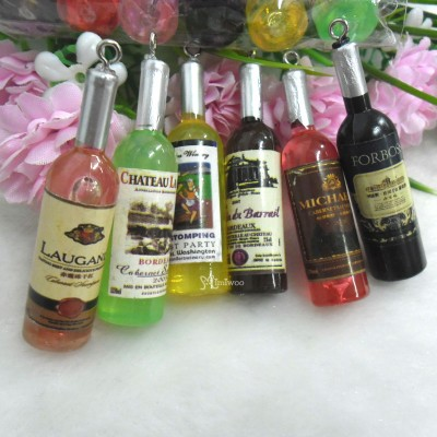 YC0058 1/6 Bjd Miniature Drink Wine Beer Whisky (6 Bottles)
