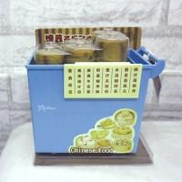 1/6 Bjd Mini Dim Sum Cart +8 Steamer (Saving Box) BLUE YC0066BLE