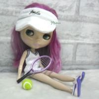 Blythe 1/6 Doll Miniature Tennis Racket + Ball Purple YC0074PUE