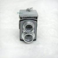 YC0076GRY Miniature Mini Twin Camera w Sound & Light Grey