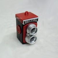 YC0076RED Miniature Mini Twin Camera w Sound & Light Red
