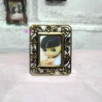 1/6 Bjd Miniature Mini Metal Photo Frame Antique Brass YC0077-02