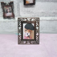 1/6 Bjd Miniature Mini Metal Photo Frame Antique Brass YC0077-03
