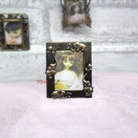 1/6 Bjd Miniature Mini Metal Photo Frame Antique Brass YC0077-05