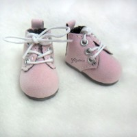 YK01PNK Monchhichi S Size MCC Doll Shoes Velvet Pink