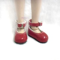 YK03RED Monchhichi S Size MCC Doll Shoes Mary Jane Red