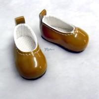 Monchhichi S Size MCC Taeyang Doll School Shoes BROWN YK05BRN