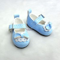 Monchhichi S Size MCC Taeyang Doll Bow Shoes BLUE YK06BLE