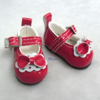 Monchhichi S Size MCC Taeyang Doll Bow Shoes RED YK06RED