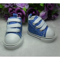 Monchhichi Yo-SD Bjd Neo-Go Boy Obitsu Male Taeyang Doll Shoes Denim Sneaker Blue SHU005BLE