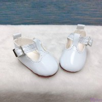Yo-SD BJD Doll Maryjane School Shoes White SHU050WHE