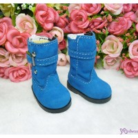 Yo-SD Bjd MCC Shoes Buckle Velvet Boots Blue SHU053BLE
