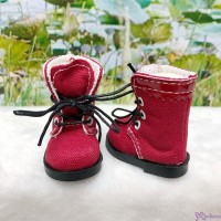 SHU072RED Mimiwoo Yo-SD 1/6 bjd Doll Shoes Cloth Boots Red