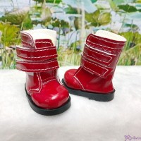 Yo-SD 1/6 bjd Dollfie Leeke Doll Shoes Double Strap Boots RED SHU073RED